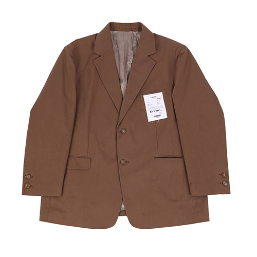 90s 슈트 자켓 (90s over Suit jacket) / brown