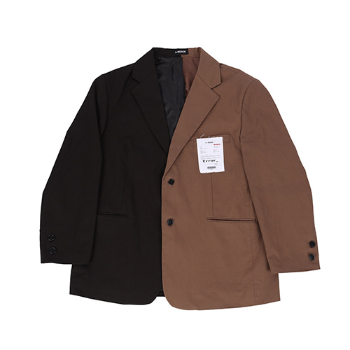 90s 슈트 자켓 (90s over Suit jacket) / black & brown
